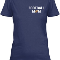 Personalized Mom Football Number  T-Shirt