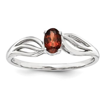 Sterling Silver Garnet January Birthstone Ring