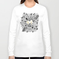 As If – Black & Gold Long Sleeve T-shirt by Cat Coquillette