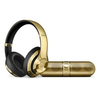Gloss Gold Edition: Beats Studio Wireless Headphones and Beats Pill 2.0 Speaker