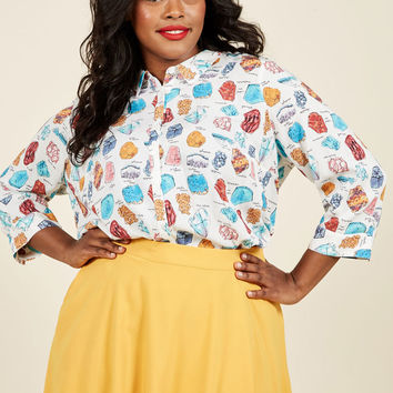Sunny Spirit Button-Up Top in Geology