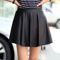 YESSTYLE: REDOPIN- 2 Designed Faux-Leather Skirt - Free International Shipping on orders over $150