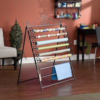 Southern Enterprises Easel/Wall Mount Craft Storage Rack,Wrap Rack Tissue