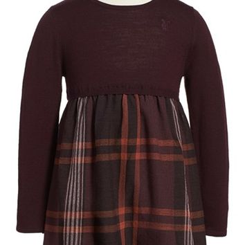 Toddler Girl's Burberry 'Opelia' Check Print Dress,