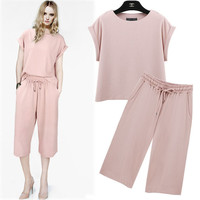 Pink Cuffed Sleeve Shirt With Pants