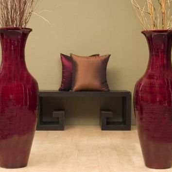 36-inch Bamboo Tall Floor Vase | Overstock.com Shopping - The Best Deals on Vases