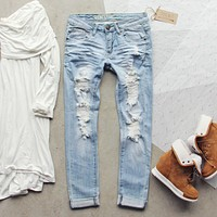 Eversage Distressed Jeans