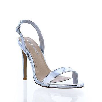 Open Toe Single Strap Design High Heels