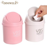 DINIWELL Mini Small Trash Basket Garbage Can Wastebasket Office Home Desktop Dustbin Container