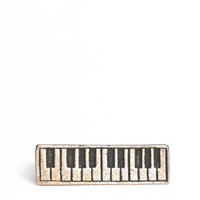 Piano Keys Two Finger Ring - $19.00 : ThreadSence.com, Your Spot For Indie Clothing & Indie Urban Culture