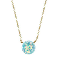 Open Circle Fire Opal Necklace