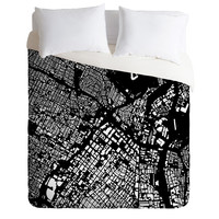 CityFabric Inc LA Black Duvet Cover