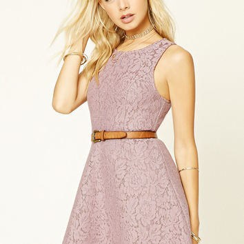 Floral Lace Fit and Flare Dress