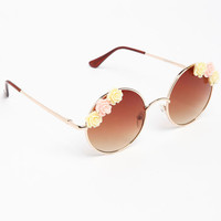 ROUND FLOWER SUNGLASSES