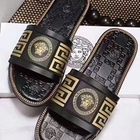 Versace Fashion Women Men Casual Slippers I