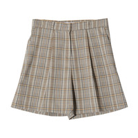 High-Rise Tartan Shorts