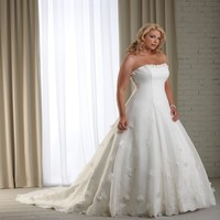 Sweet Princess Gown Strapless Neckline Beads Floral Petals with Jacket Satin and Organza Plus Size Gown YSP1202 - $179.55 : Maxnina.com