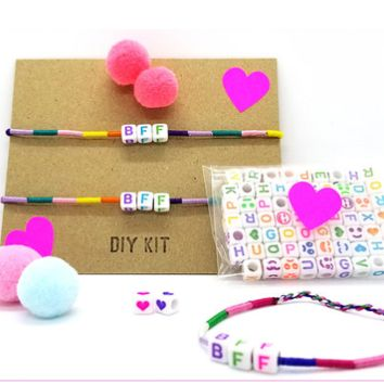 DIY Bff & Pom Pom Bracelet Kit by Bottleblond Jewels