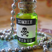 Zombie Virus Bottle Pendant