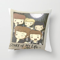 One Direction Story of My Life Cartoon Throw Pillow by xjen94