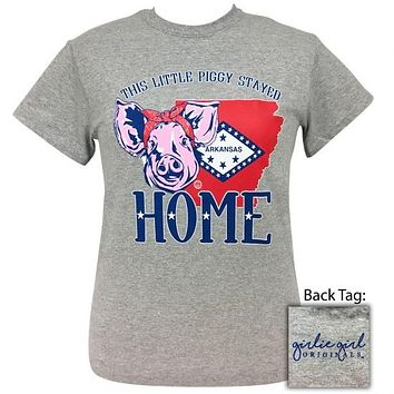 Girlie Girl Originals Preppy Piggy Home Arkansas T-Shirt