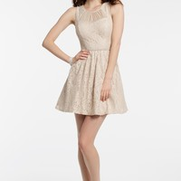 Sleeveless Lace Dress with Key Hole Back from Camille La Vie and Group USA