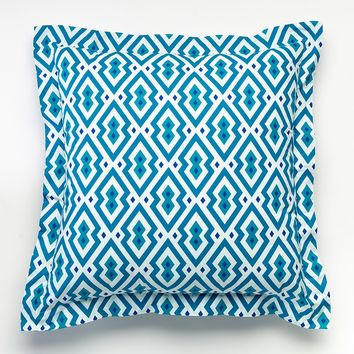 Happy Chic by Jonathan Adler Samantha Euro Pillow (Blue)