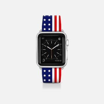 USA Flag - Patriot collection Apple Watch Band (38mm)  by WAMDESIGN | Casetify