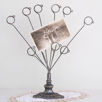 vintage silver plate photo holder by KatyBitsandPieces on Etsy