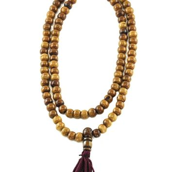 Brown Yak Bone Meditation 108 Beads Mala