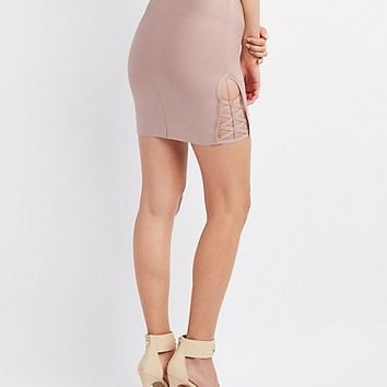 Bandage Lattice-Inset Skirt