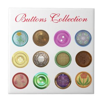 buttons collection ceramic tile