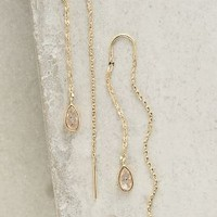Lagrima Threaded Earrings by Anthropologie in Gold Size: One Size Earrings