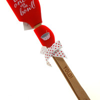 YOLO You Only Live Once Lick The Bowl Brownlow Kitchen Buddies Red Spatula Set