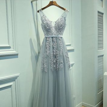 Fashion sexy sleeveless show thin embroidery gauze splicing long dress