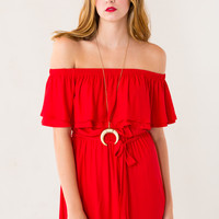 Shout Dress in Red