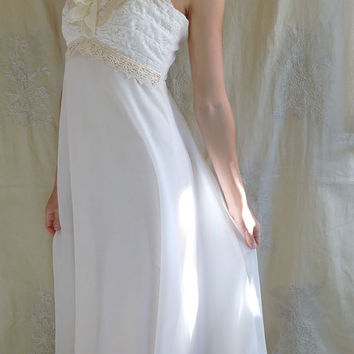 Aurora Altered Vintage Wedding Gown... Size Small... boho ethereal whimsical free people woodland ivory lace