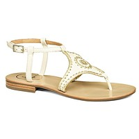 Maci Sandal in Bone and Gold by Jack Rogers - FINAL SALE