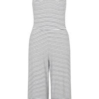 Striped Ribbed High Neck Jumpsuit - Topshop