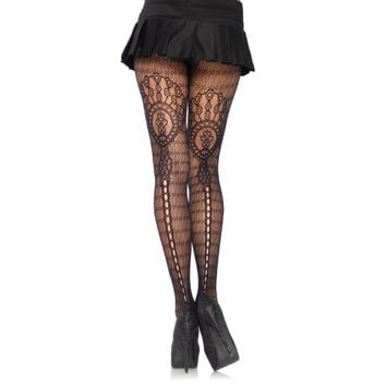 plume lace pantyhose - Pantyhose & Tights - Hosiery - Red Stripe Clothing