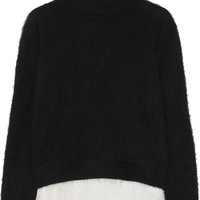 No. 21 - Feather-trimmed angora-blend turtleneck sweater