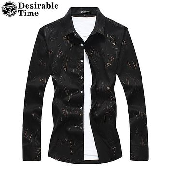 Men Long Sleeve Striped Shirt Multi-color Casual Shirts