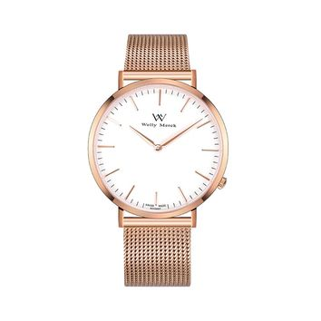 Welly Merck Brand Quartz Watch Ladies Waterproof Stainless Steel Watch Fashion Business Woman Watch