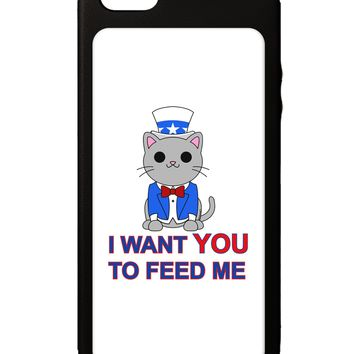 Patriotic Cat I Want You iPhone 5C Grip Case  by TooLoud