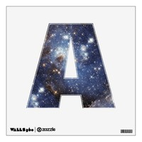 Starry Space Personalized Letters Wall Decal