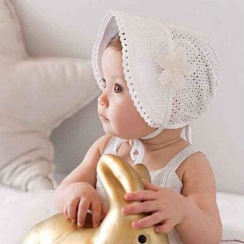 DCCKL3Z Sweet Lovely Cute Princess Children Kids Girls Baby Hat Beanie Pink New Lace Floral Caps SUY