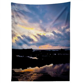 Bird Wanna Whistle Sunset Tapestry