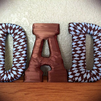 Father's Day Handcrafted Letter Set-by Tightly Wound Designs
