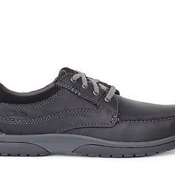 Clarks Mens Casual Shoes Randle Walk Black Leather 26109868