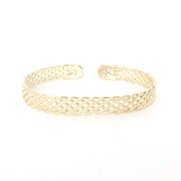 Meshal Bangle Bracelet In Gold